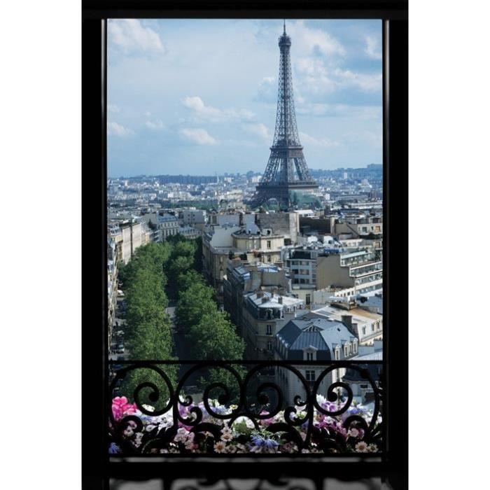 Affiche paris fen tre achat vente affiche for Fenetre paris