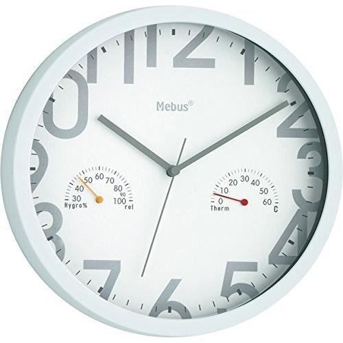 Mebus 52728 funk horloge murale achat vente horloge - Horloge murale led bleue ...