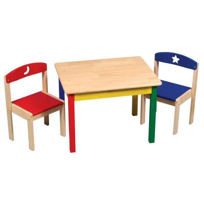 Table et chaises en bois lune neuf mobilier ch achat vente chaise boi - Cdiscount table chaise ...