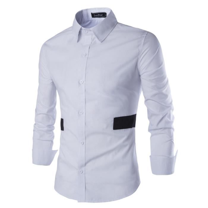 chemise homme col large