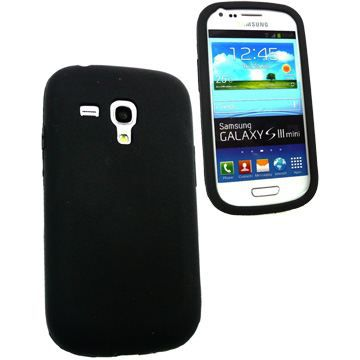 Housse coque silicone galaxy s3 mini noir mat achat for Housse samsung galaxy s3