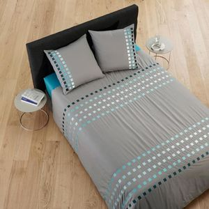 parure lit 180 200 achat vente parure lit 180 200 pas cher cdiscount. Black Bedroom Furniture Sets. Home Design Ideas