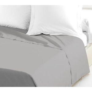 DRAP PLAT LOVELY HOME Drap Plat 100% coton 240x300 cm gris c