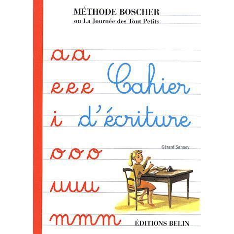 Boscher cahier d 39 criture achat vente livre g rard - Livre maternelle gratuit ...