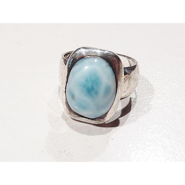 bague pierre larimar bleu argent 925 achat vente bague anneau bague pierre larimar bleu a. Black Bedroom Furniture Sets. Home Design Ideas