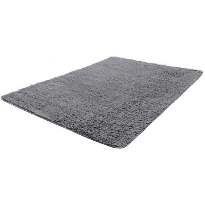 tapis salon gris poil long taille l 2802009 achat vente tapis cdiscount. Black Bedroom Furniture Sets. Home Design Ideas