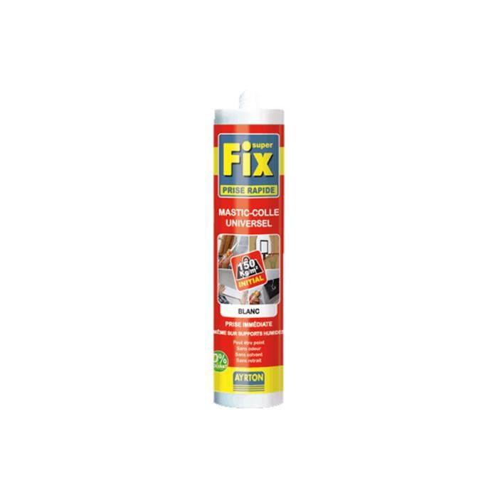 Mastic colle ms polym re 290ml superfix prise rapide blanc ayrton 112415 achat vente joint d - Colle ms polymere ...