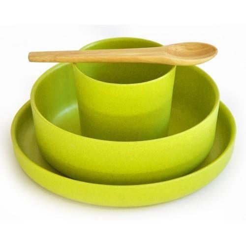 couverts enfant en bambou citron vert achat vente vaisselle b b couverts bambou citron. Black Bedroom Furniture Sets. Home Design Ideas