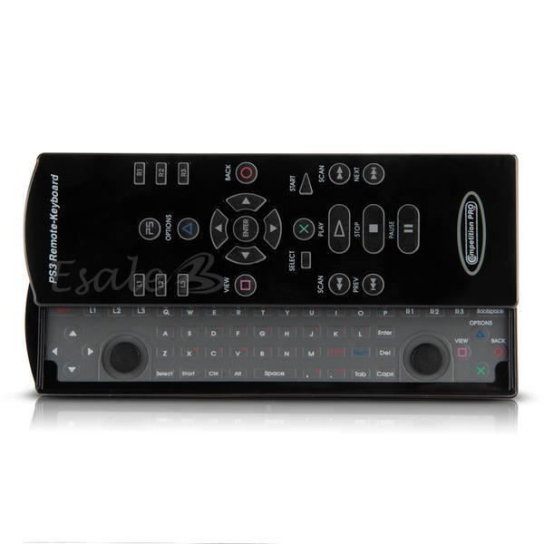 2 4g clavier coulissant sans fil t l commande pour ps3 playstation 3 jeu vid o prix pas cher. Black Bedroom Furniture Sets. Home Design Ideas