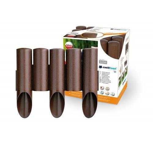Jardin bordure effet bois 2 3 m brun palissade achat vente bordure jardin bordure effet - Bordure de jardin en bois a planter ...