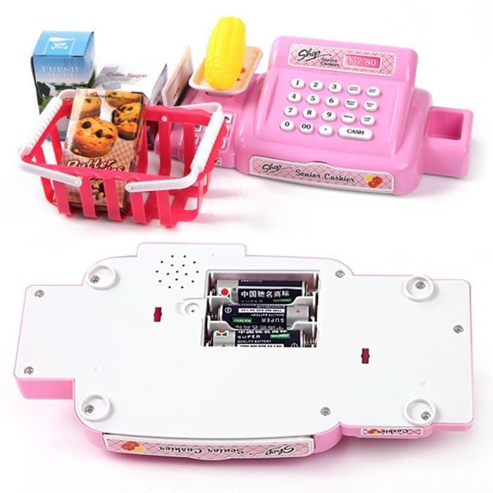 elisona enfants caisse enregistreuse jouet pour enfants cadeau rose 6959810496289 achat. Black Bedroom Furniture Sets. Home Design Ideas