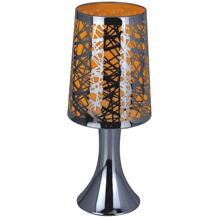 Lampe de chevet tactile graphique orange achat vente lampe de chevet ta - Lampe de chevet tactile ...