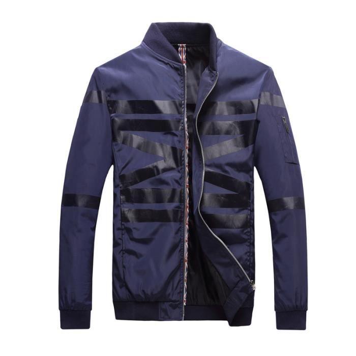 veste homme manche longue couleur de patchwork ray zipper. Black Bedroom Furniture Sets. Home Design Ideas