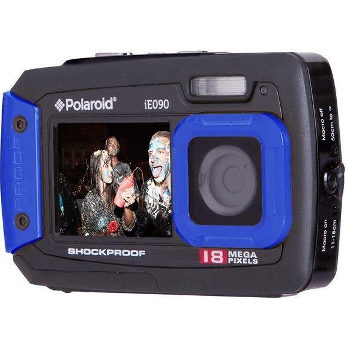 polaroid ie090 bleu tanche cmos 18 mpix appareil photo. Black Bedroom Furniture Sets. Home Design Ideas