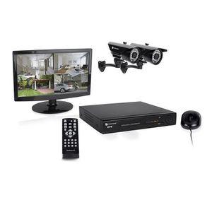 SMARTWARES Kit de surveillance HD DVR728S avec enregistreur 1Tb 8 canaux - 2 caméras bullet HD 720P et 1 écran 15,4\