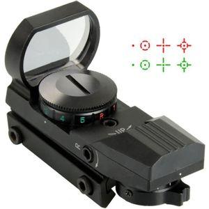 CORNE DE CHASSE 1Pcs Noir Tactique Réflexe Holographique 4-Viseur