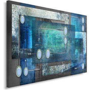 Tableau turquoise achat vente tableau turquoise pas - Deco tableau mural ...