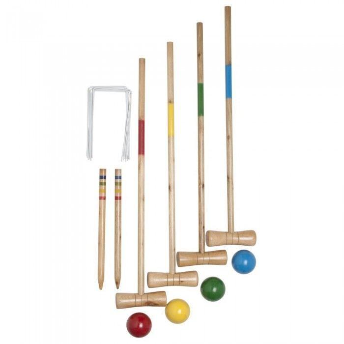 jeu de croquet en bois - mundu.fr