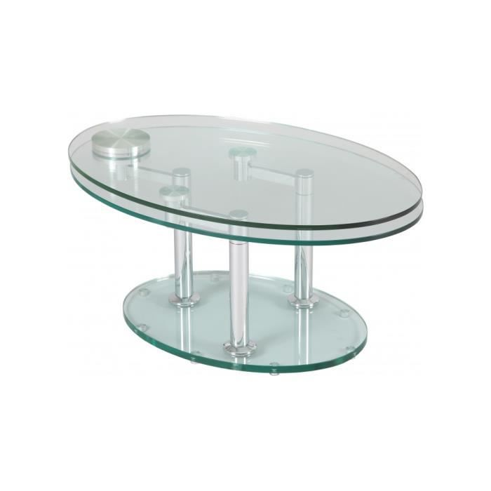 table basse verre ovale articul e achat vente table