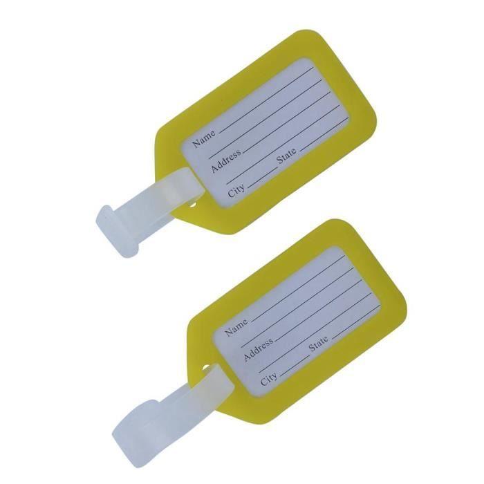 1 tiquettes valise bagages voyage jaune achat vente for 1 porte etiquette de voyage