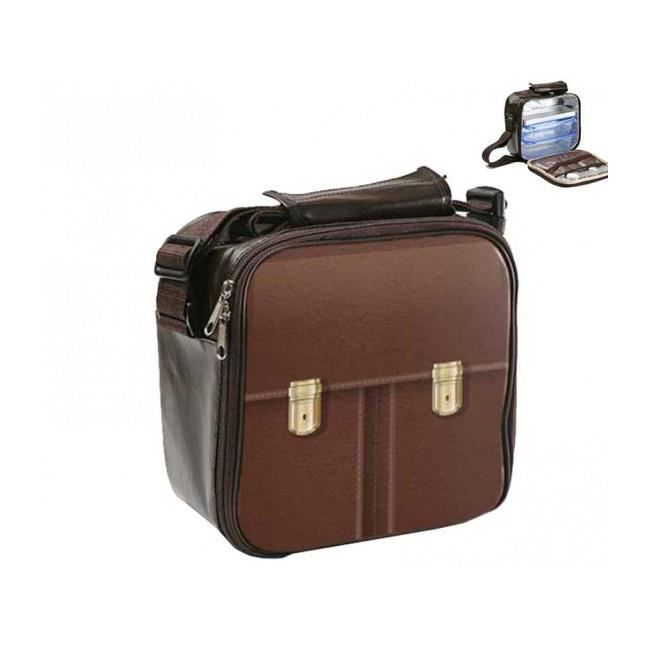 Sac isotherme marron 2 lunch box achat vente lunch box bento sac isotherme marron 2 lu - Sac lunch box isotherme ...