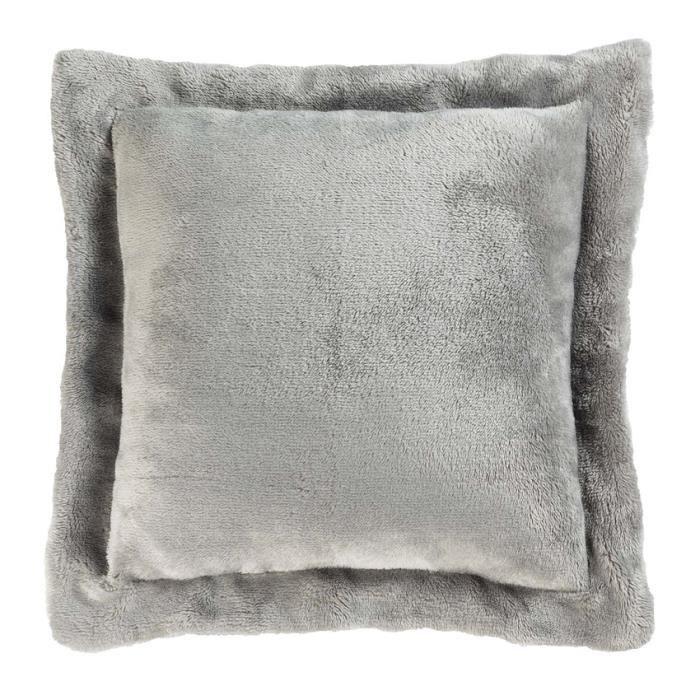 Housse de coussin 60 cm sweet night gris achat vente for Housse de coussin 60 60