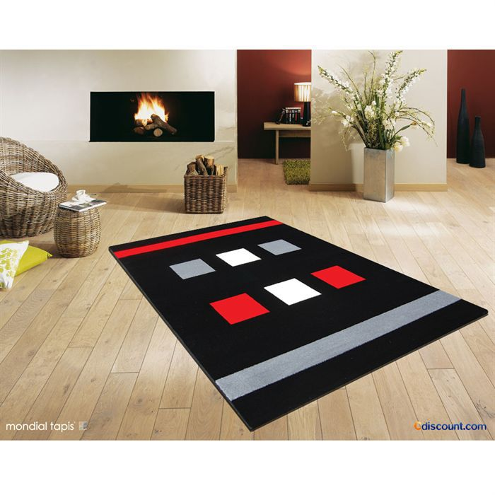 Object moved - Tapis rouge noir gris ...