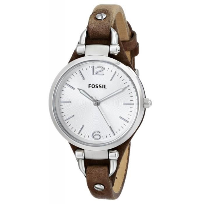 montre femme fossil es3060 bracelet cuir achat vente montre cdiscount. Black Bedroom Furniture Sets. Home Design Ideas