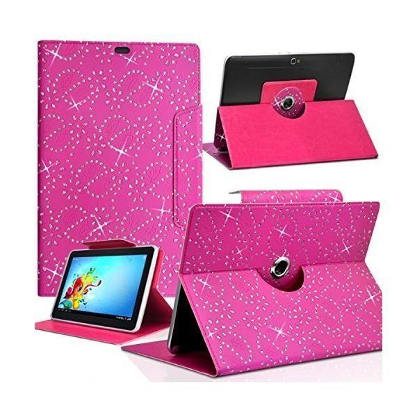informatique accessoires tablettes tactiles housse etui diamant universel s couleur rose fushi f  kar