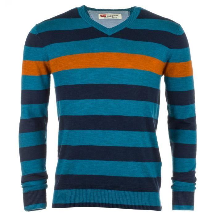 sweat levi s classic col en v pour homme en bleu bleu achat vente sweatshirt cdiscount. Black Bedroom Furniture Sets. Home Design Ideas