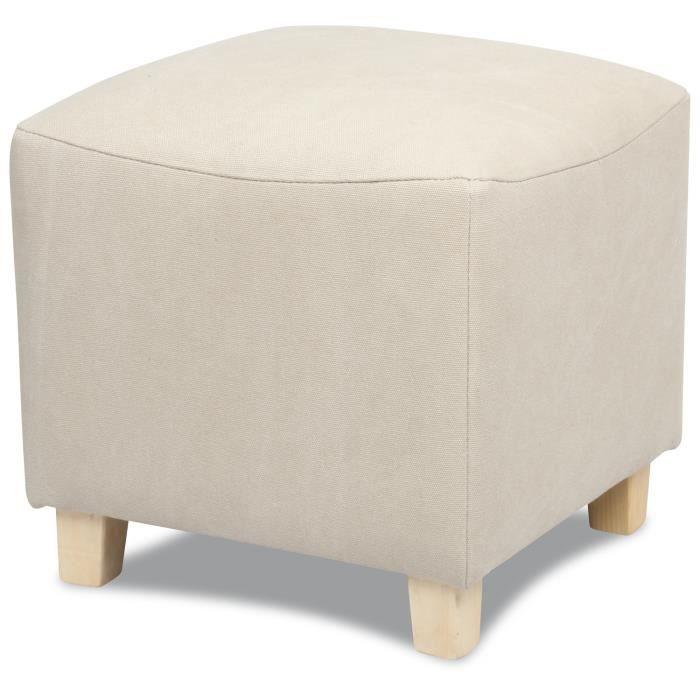 pouf en toile lav e beige pocket achat vente pouf. Black Bedroom Furniture Sets. Home Design Ideas