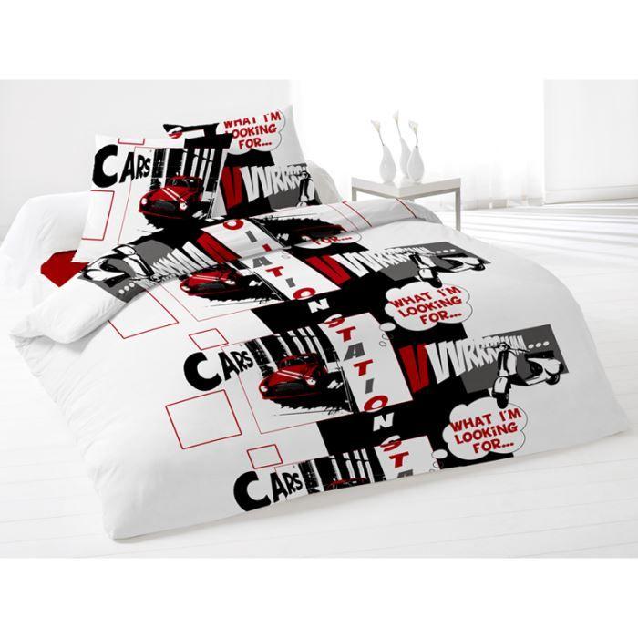 parure housse de couette 220x240 cm station rou achat vente parure de couette cdiscount. Black Bedroom Furniture Sets. Home Design Ideas