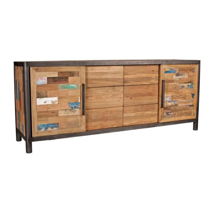 Buffet 2 portes coulissantes 6 tiroirs modernity achat - Buffet 2 portes 2 tiroirs ...