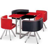 TABLE À MANGER  Table et chaises Mosaic 90 Rouge et Noir