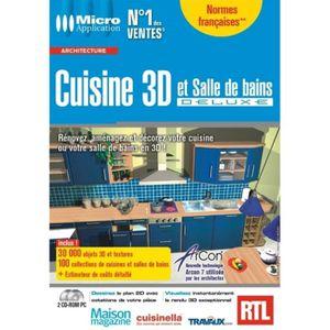 Cuisins et salle de bain 3d deluxe logiciel pc d prix pas cher soldes - Logiciel salle de bain 3d ...