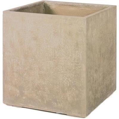 bac ciment fibre star ext cube l 60x 60 x h 64 cm beige dimhaut h 64 cm couleur sable. Black Bedroom Furniture Sets. Home Design Ideas