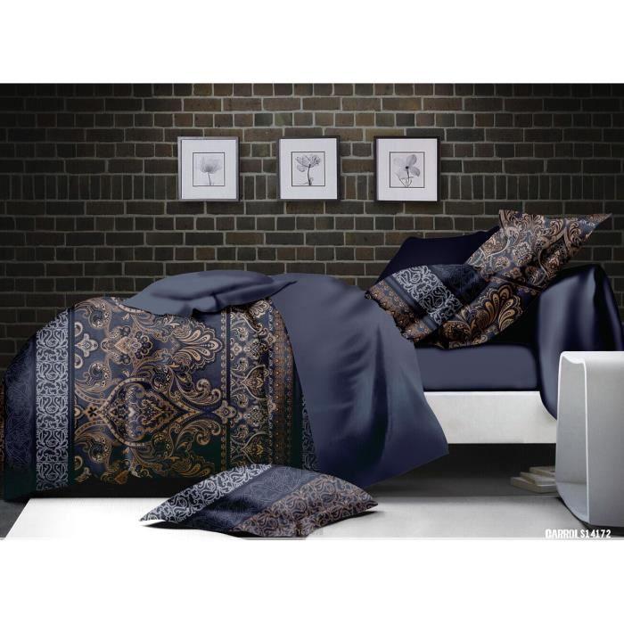 Parure de lit 4pieces 2places micro fibre orientale taille 2 achat vente - Cdiscount linge de maison ...