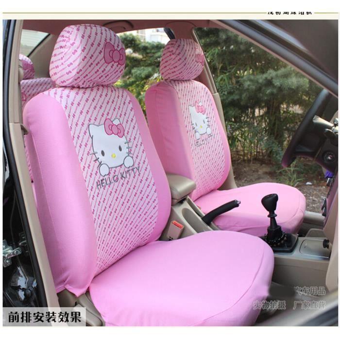 Housse de si ge de voiture de bande dessin e rose dos de for Housse voiture rose