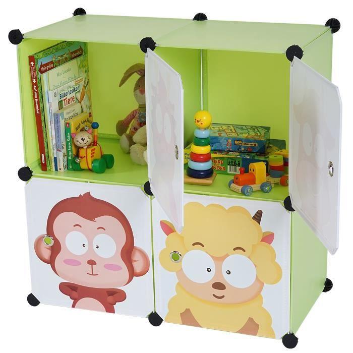 tag re meuble de rangement chambre enfant 4 bacs achat. Black Bedroom Furniture Sets. Home Design Ideas