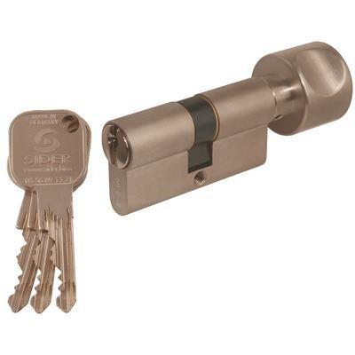 cylindre bouton sider f9 nickel 80 40 b40 va achat vente serrure barillet cylindre. Black Bedroom Furniture Sets. Home Design Ideas