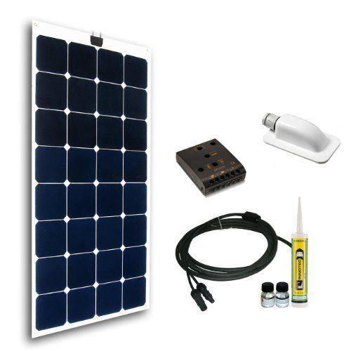 cleversolar 119233kps kit panneau solaire flexible monocristallin 100 w achat vente kit. Black Bedroom Furniture Sets. Home Design Ideas
