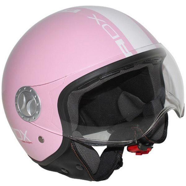 casque jet adx v2 rose blan achat vente casque moto scooter casque jet adx v2 rose. Black Bedroom Furniture Sets. Home Design Ideas