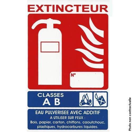 Panneau signal tique extincteur ab achat vente - Prix d un extincteur ...