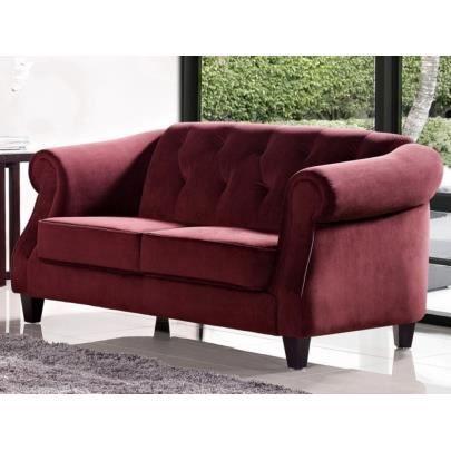 Canap 2 places tissu vogue rouge achat vente canap sofa divan c - Canape 2 places rouge ...