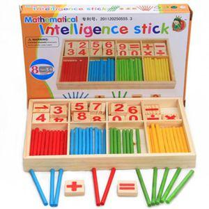JEU SOCIÉTÉ - PLATEAU Nombre d'enfants bâton en bois jouets maternelles