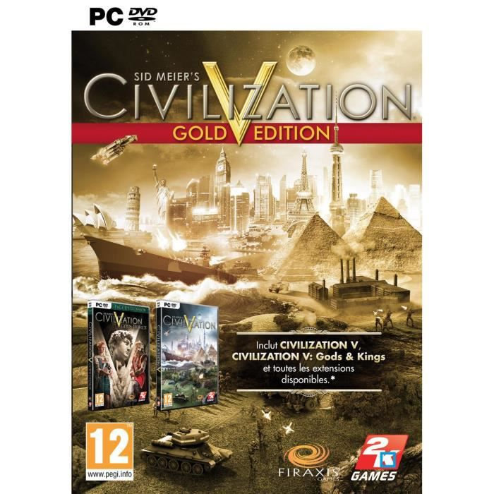 JEU PC CIVILIZATION V : EDITION GOLD PC