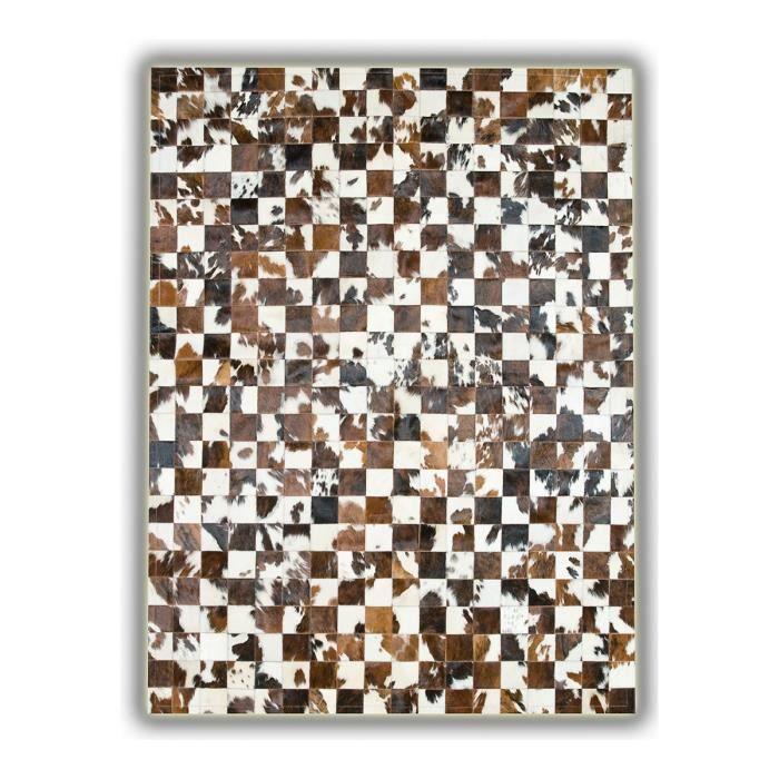 Allotapis tapis sans bord patchwork en peau de vache - Tapis peau de vache maison du monde ...