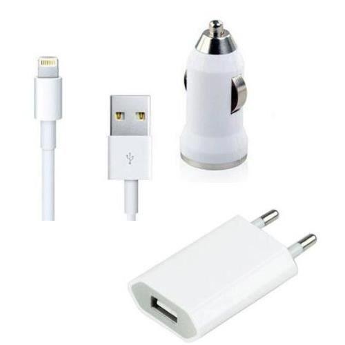 chargeur kit 3 en 1 iphone 5 achat chargeur t l phone pas cher avis et meilleur prix cdiscount. Black Bedroom Furniture Sets. Home Design Ideas