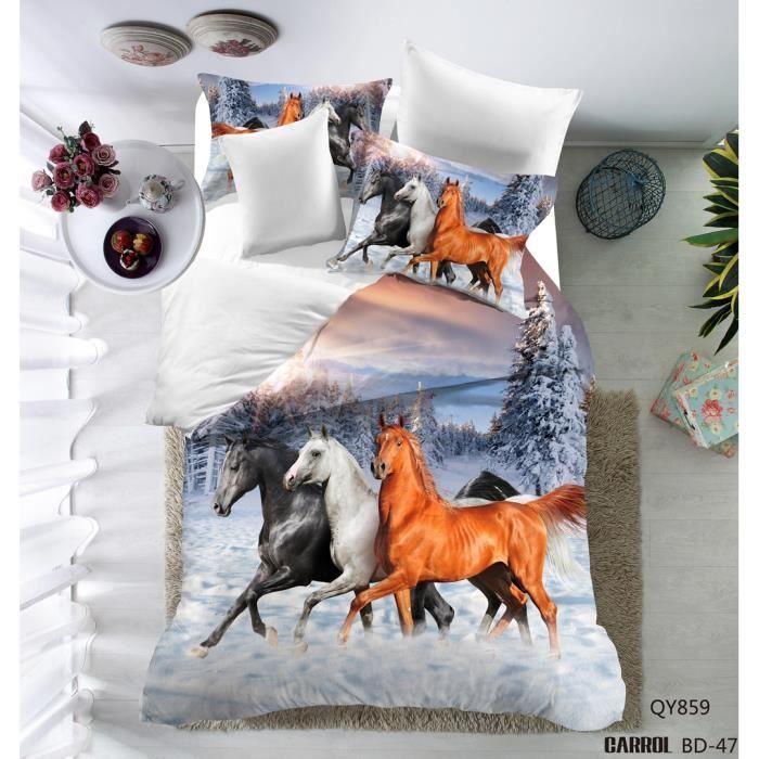 parure de lit 3 pi ces housse de couette polyester le dessin cheval 3d 1 housse de couette. Black Bedroom Furniture Sets. Home Design Ideas