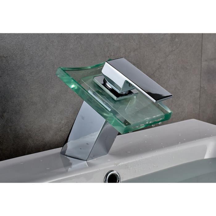 Auralum led mitigeur robinet de lavabo de salle de bain cuisine pour l 39 ea - Robinet led salle de bain ...